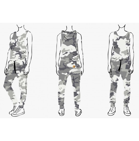 SUMMERJUMP HOOD CAMO BLACK