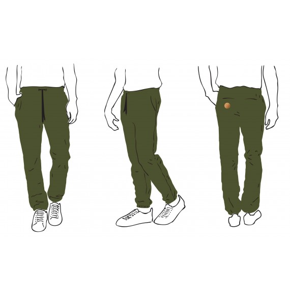 PANTS MEN REGULAR ORGANIC KHAKI