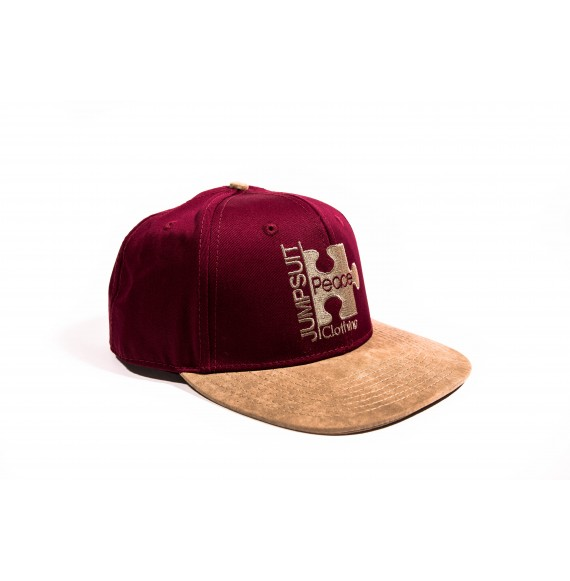SNAPBACK WINE BROWN SUEDE